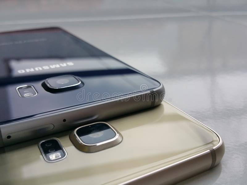 Samsung galaxy s6 edge full desain edge stock photos