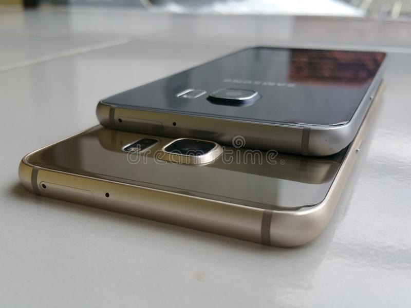Samsung galaxy s6 edge full desain edge royalty free stock image
