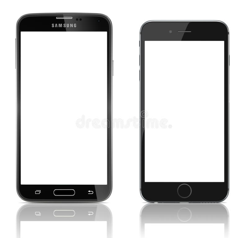 Samsung Galaxy S5 vs Apple iPhone 6. Comparison of Samsung Galaxy S5 and Apple iPhone 6 side by side. Samsung Galaxy S5 is the newest smart phone from Samsung