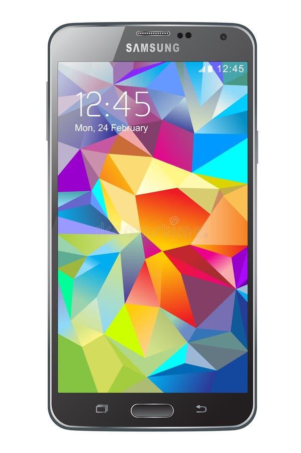 Samsung Galaxy S5 royalty free illustration