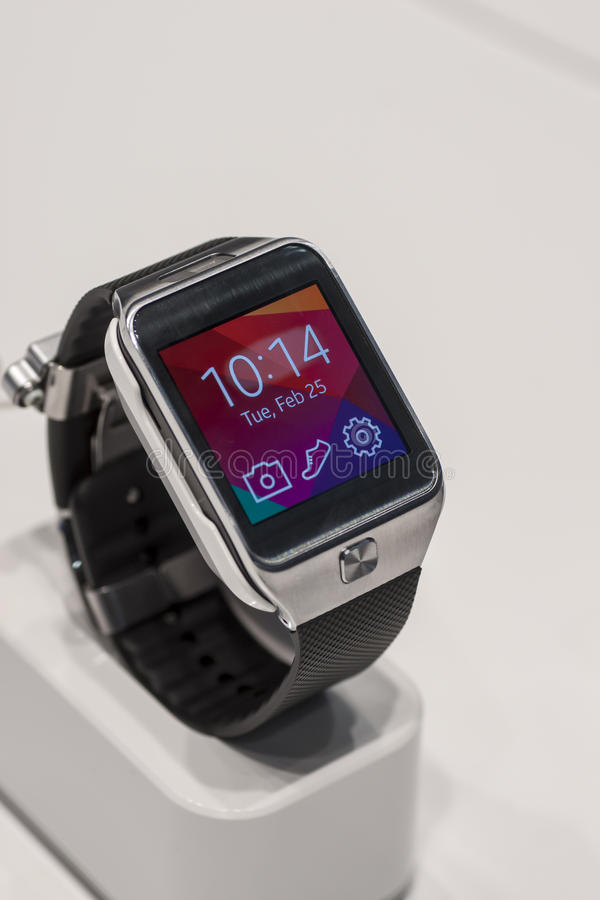 Download SAMSUNG GEAR 2, MOBILE WORLD CONGRESS 2014 Editorial Stock Photo - Image: 38245288