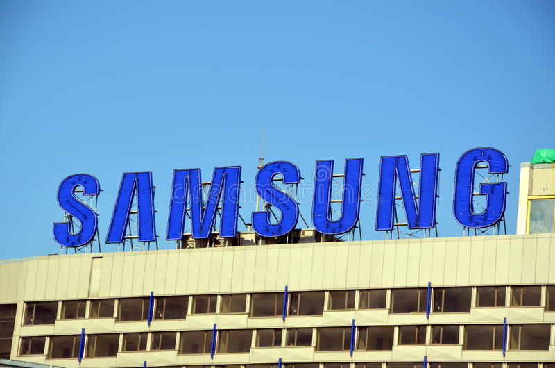Samsung logo obrazy royalty free