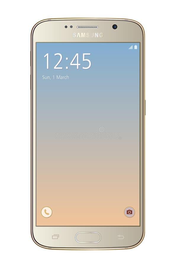 Samsung-melkweg s6 royalty-vrije illustratie