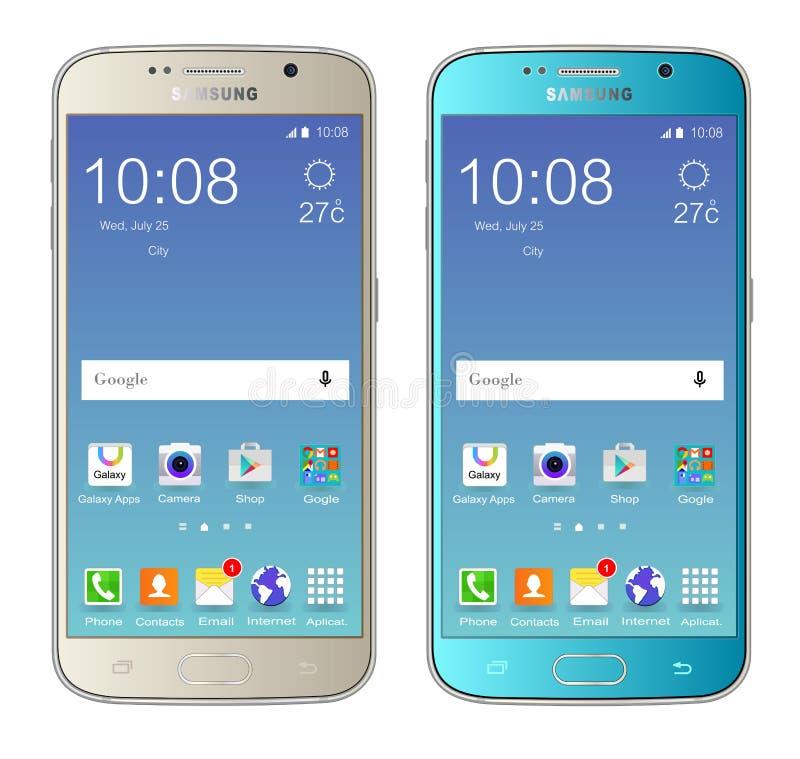 Samsung-melkweg s6 vector illustratie