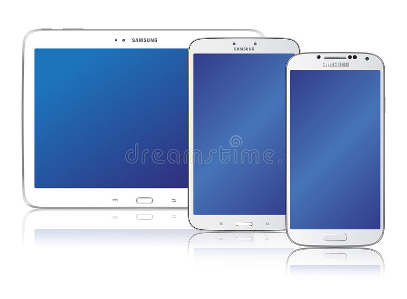 Samsung-Melkwegfamilie stock illustratie