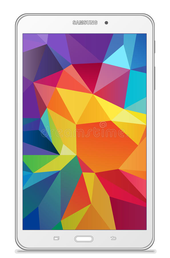 Samsung-Melkweglusje 4 7 0 LTE wit vector illustratie