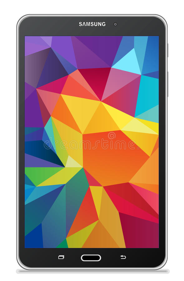 Samsung-Melkweglusje 4 7 0 LTE zwarte royalty-vrije illustratie