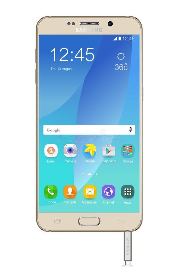 Samsung-melkwegnota 5 royalty-vrije illustratie