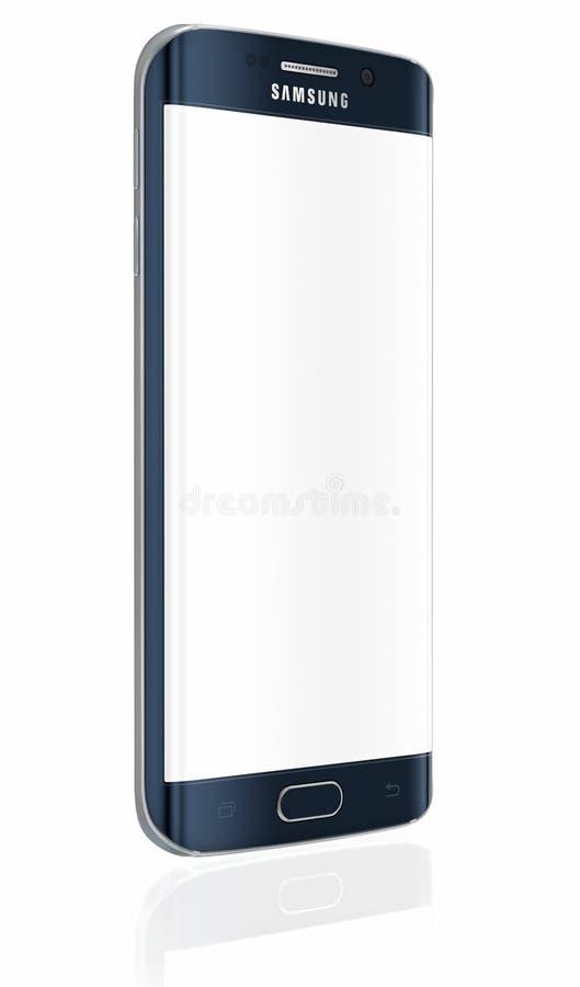Samsung-Melkwegs6 Rand - Zwarte Saffier stock illustratie