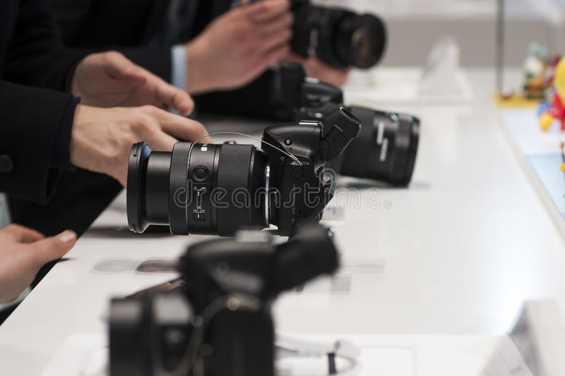 Download SAMSUNG NX30, MOBILE WORLD CONGRESS 2014 Editorial Stock Photo - Image: 38299783