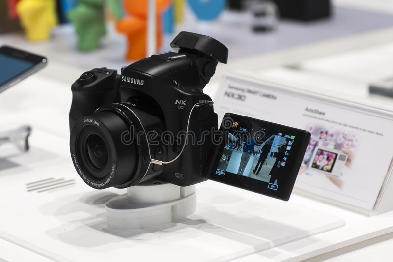 Download SAMSUNG NX30, MOBILE WORLD CONGRESS 2014 Editorial Stock Image - Image: 38299864