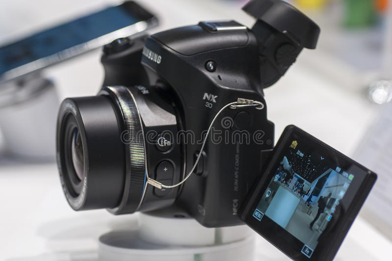 Download SAMSUNG NX30, MOBILE WORLD CONGRESS 2014 Editorial Photo - Image: 38299876