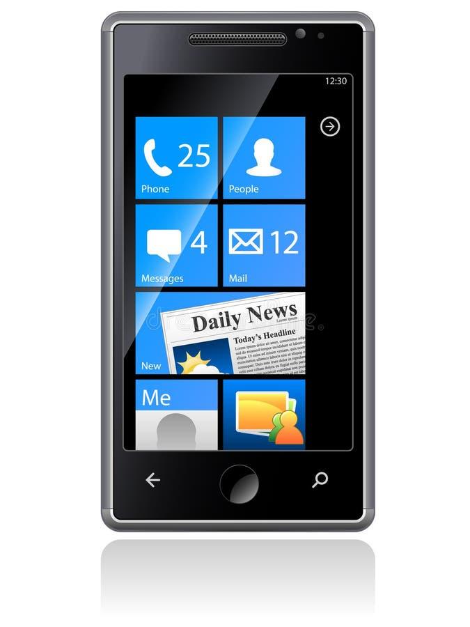 Samsung Omnia Phone vector illustration