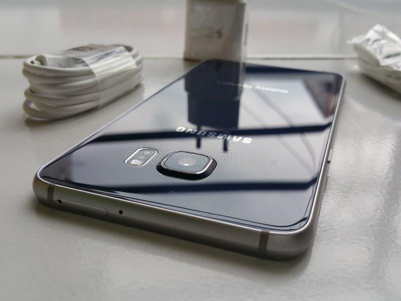 Samsung S6 edge plus royalty free stock photography
