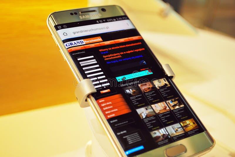 Samsung smartphone fotografering för bildbyråer