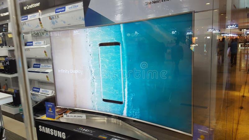 Samsung UHD TV photographie stock libre de droits