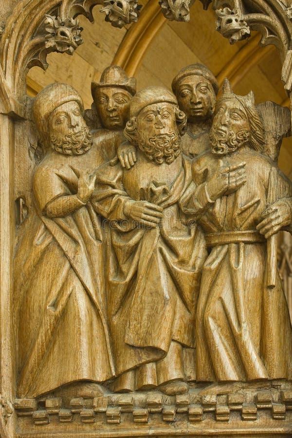 Samtal av fem folk royaltyfri bild