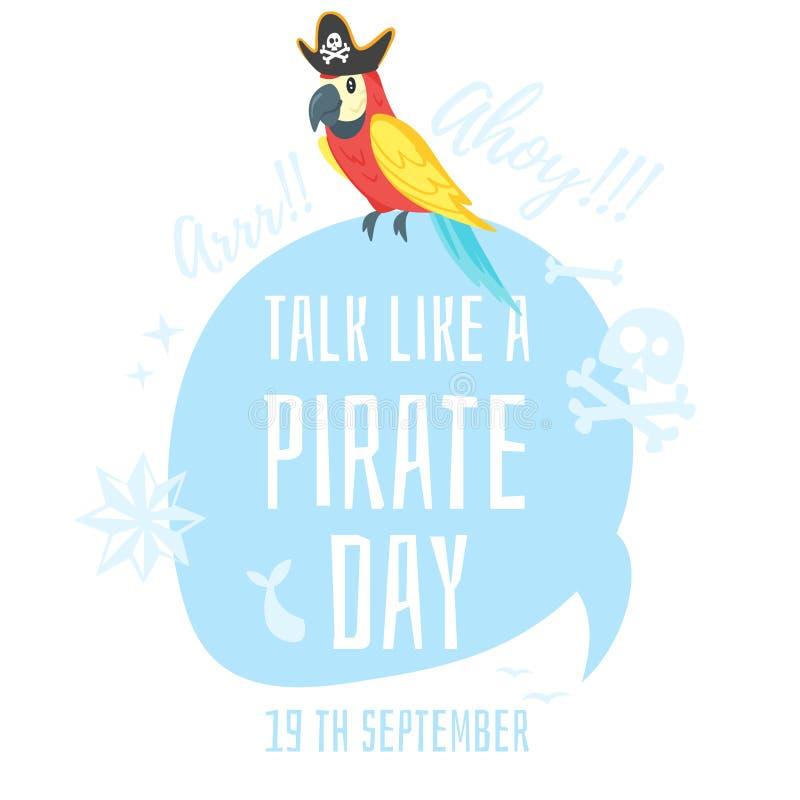 Samtal som en piratkopiera royaltyfri illustrationer