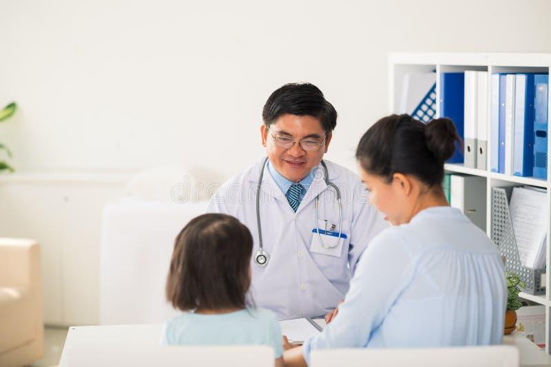 Samtal till patienter arkivfoto