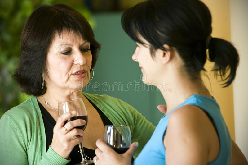 samtalkvinnor arkivbild