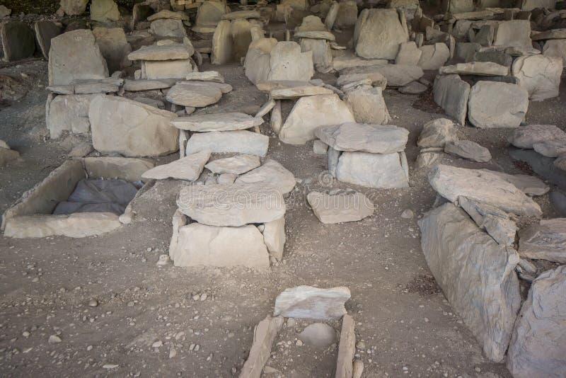 Samtavro antigo do cemitério no mzcheta imagens de stock