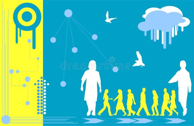 Download Samtida 6 stock illustrationer. Illustration av droppande - 506738