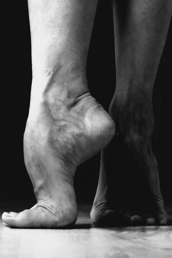 samtida dansarefot fotografering för bildbyråer