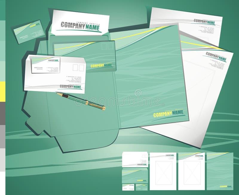 samtida idérik orienteringstamplate för affär stock illustrationer