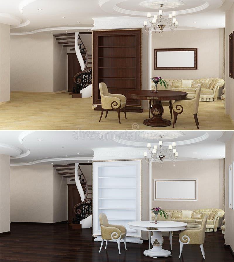 Samtida Interior vektor illustrationer