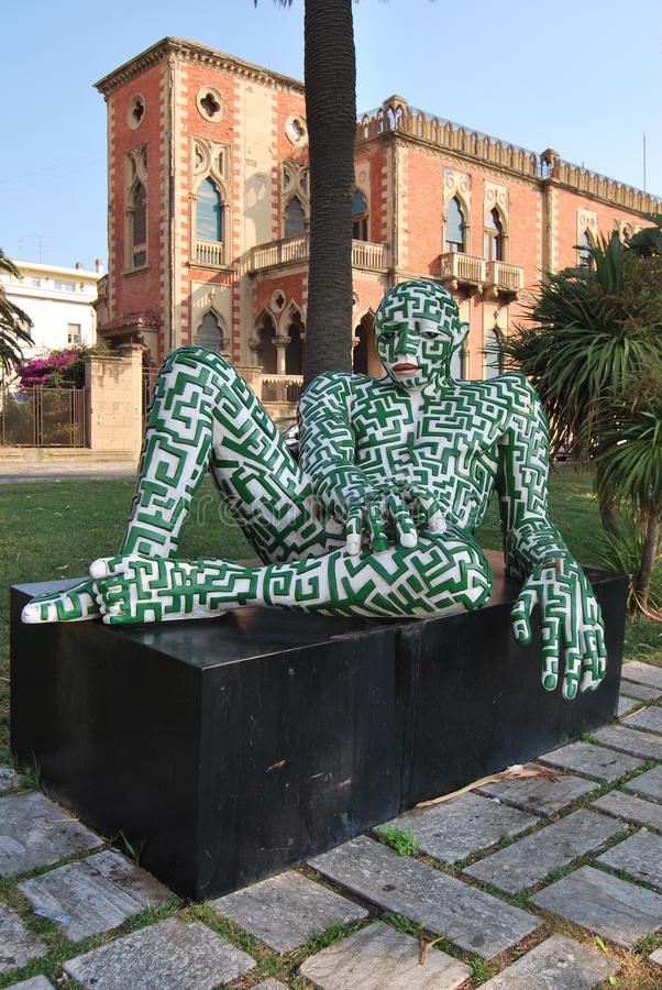 Samtida konst - Reggio Calabria arkivbild