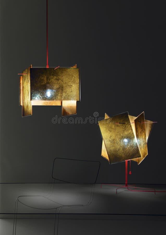 samtida lighting royaltyfria bilder