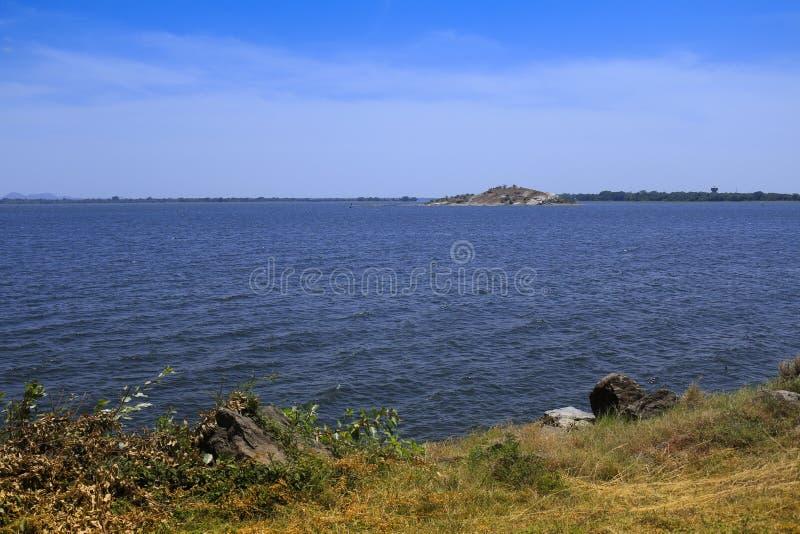 Samudraya de Parakrama em Polonnaruwa, Sri Lanka foto de stock