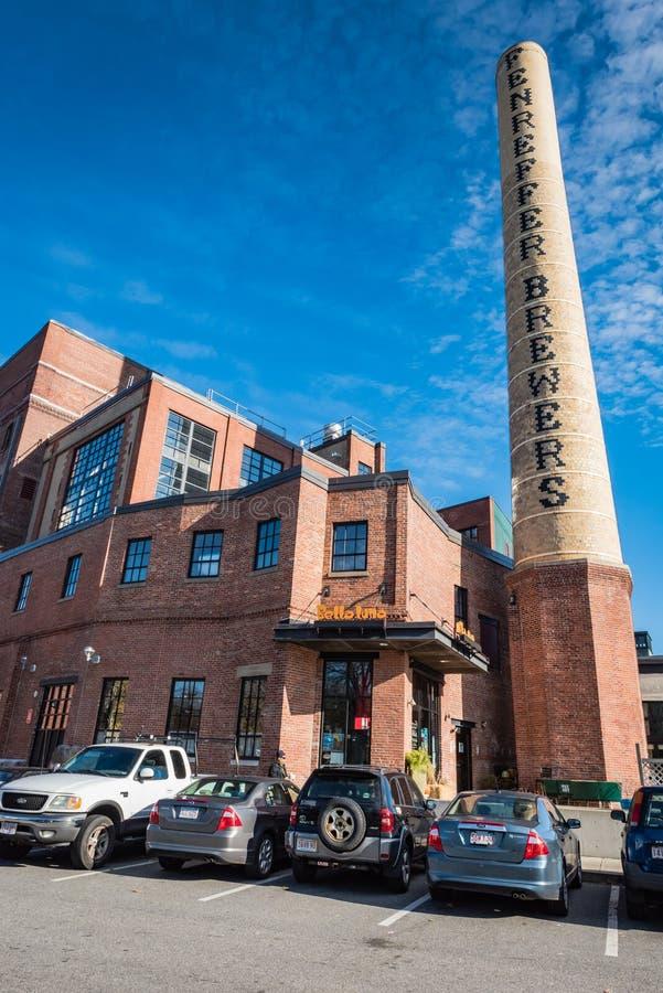 Samuel Adams Brewery Tour - Boston, MA stockfotos