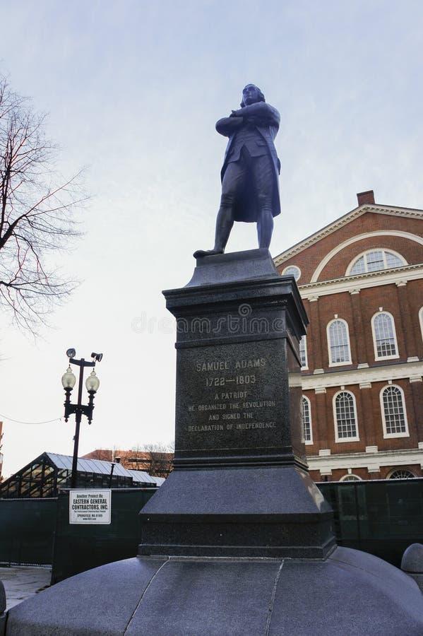 Samuel Adams Statue fotografía de archivo