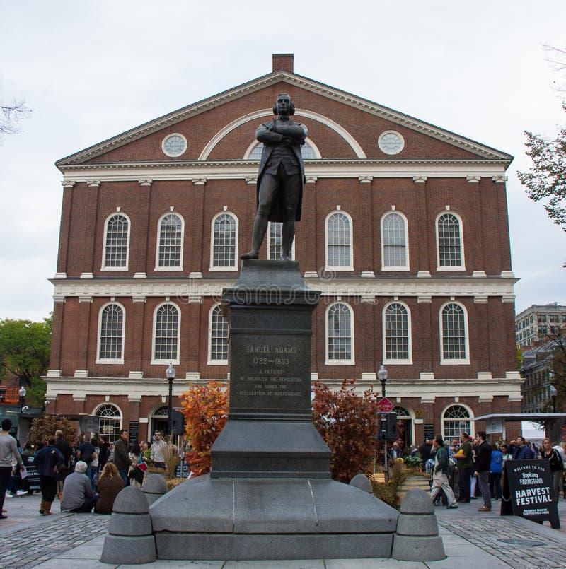 Samuel Adams Statue fotografía de archivo libre de regalías