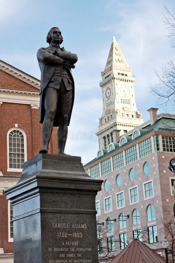 Samuel Adams Statue Boston image libre de droits
