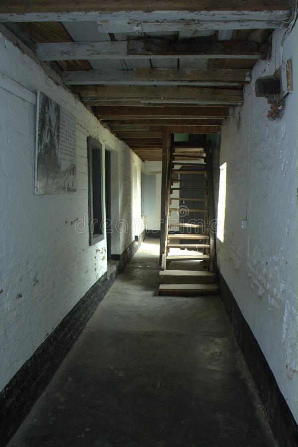 Interior of first story building in Nigeria. Samuel Ajai crowthers house first and story building in Niger stock photos
