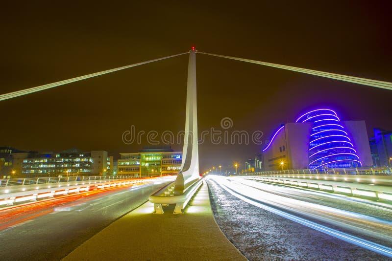 Samuel Beckett Bridge à Dublin photo libre de droits