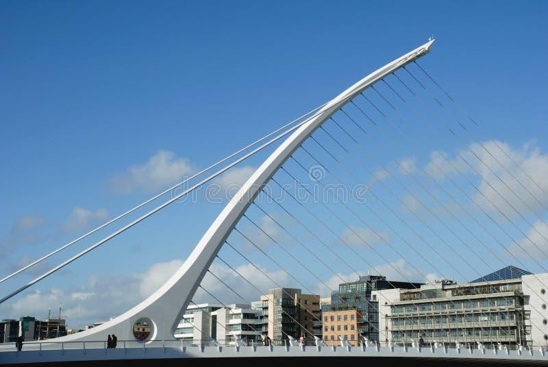 The Samuel Beckett Bridge in Dublin stock photo