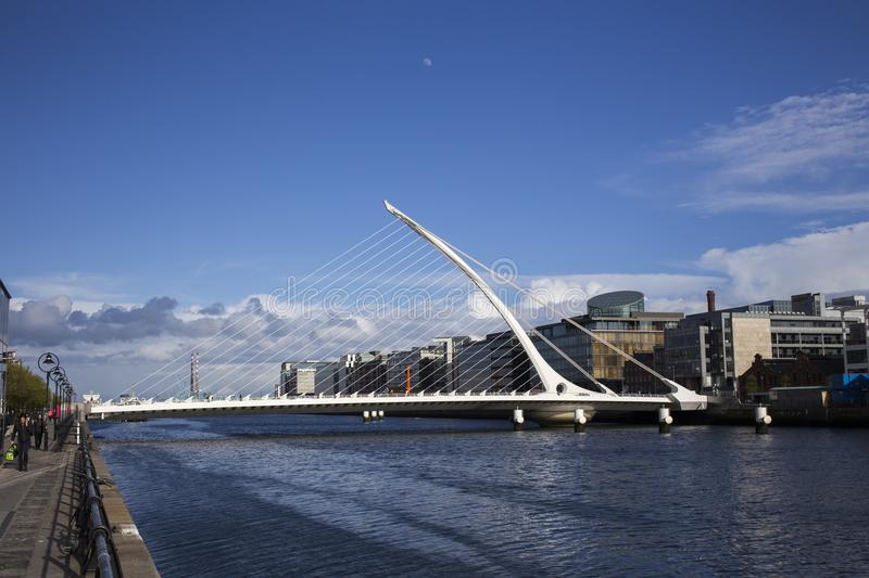 Samuel Beckett Bridge, Dublin, Ireland. Samuel Beckett Bridge over the River Liffey in Dublin, Ireland stock images