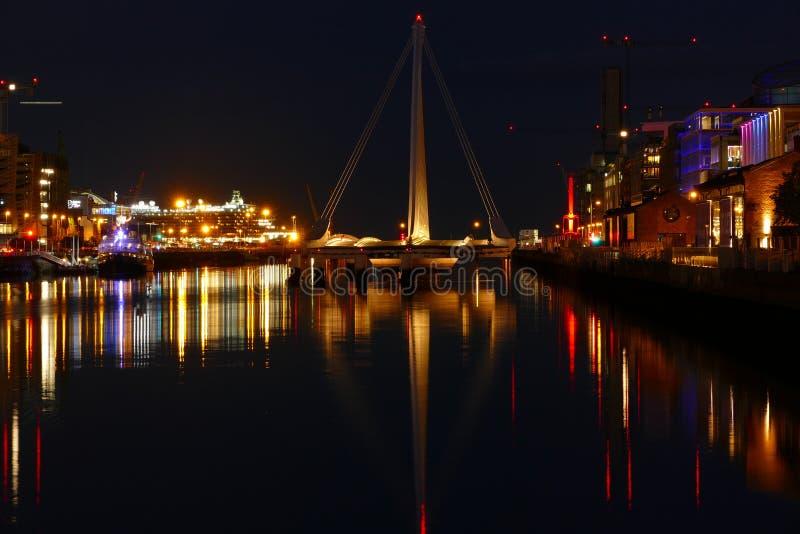 Samuel Beckett bridge when its open. stock images