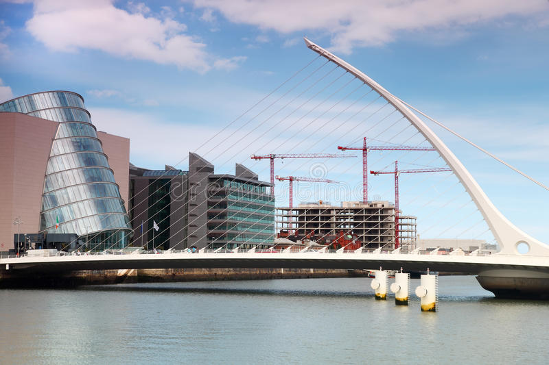 Download Samuel Beckett Bridge Over River Liffey At Day Editorial Photography - Image of beckett, asymmetrical: 18848997