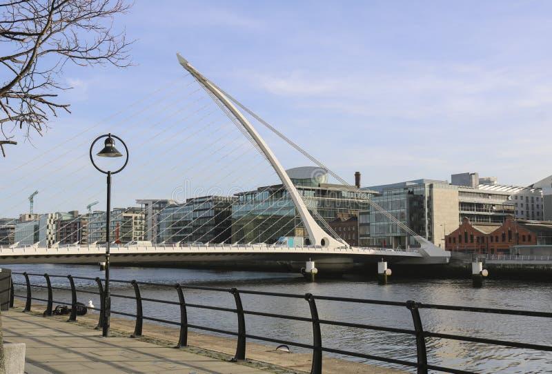 Samuel Beckett most przez rzecznego Liffey fotografia stock