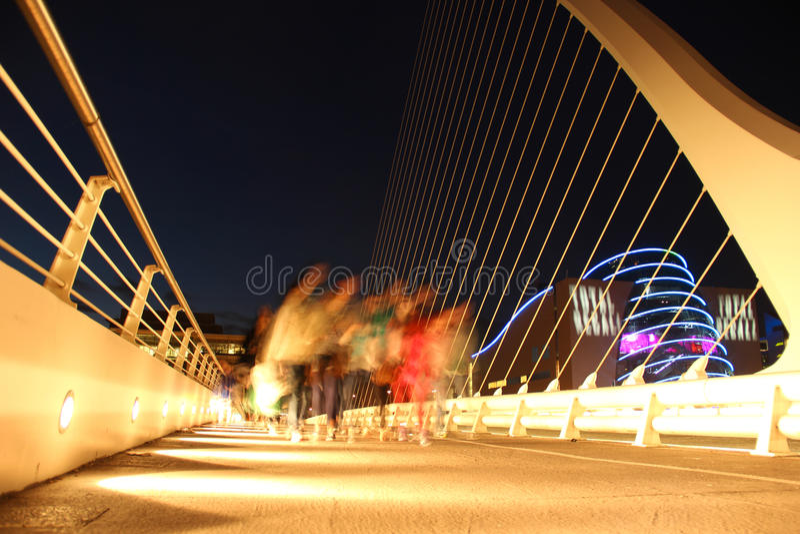 Samuel- Beckettbrücke stockfotos