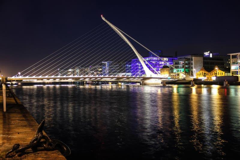 Samuel- Beckettbrücke stockbild