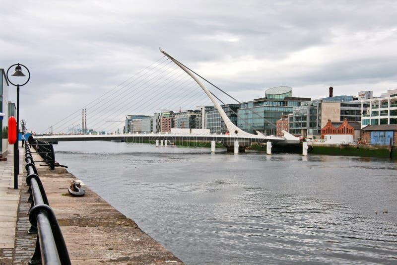 Samuel- Beckettbrücke in Dublin, Irland stockbild