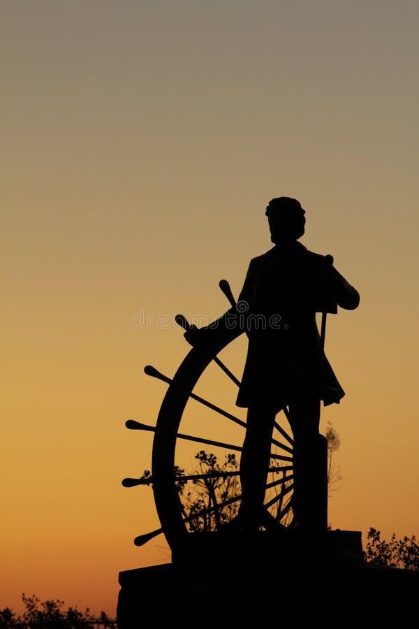 Samuel Clemens na roda foto de stock royalty free
