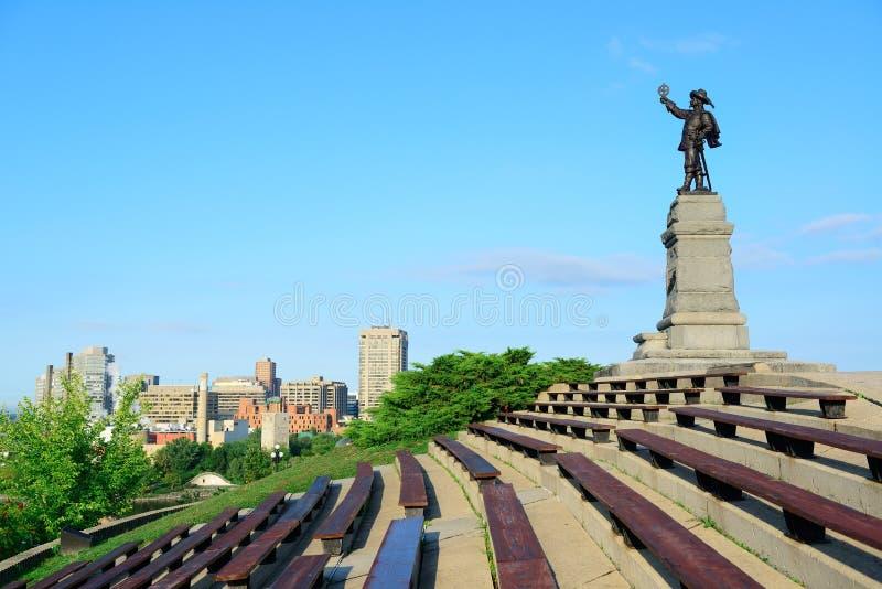 Samuel de Champlain statue stock photography