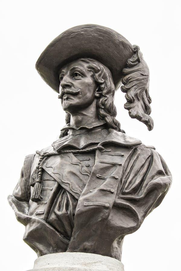 Samuel de Champlain statue portrait stock image