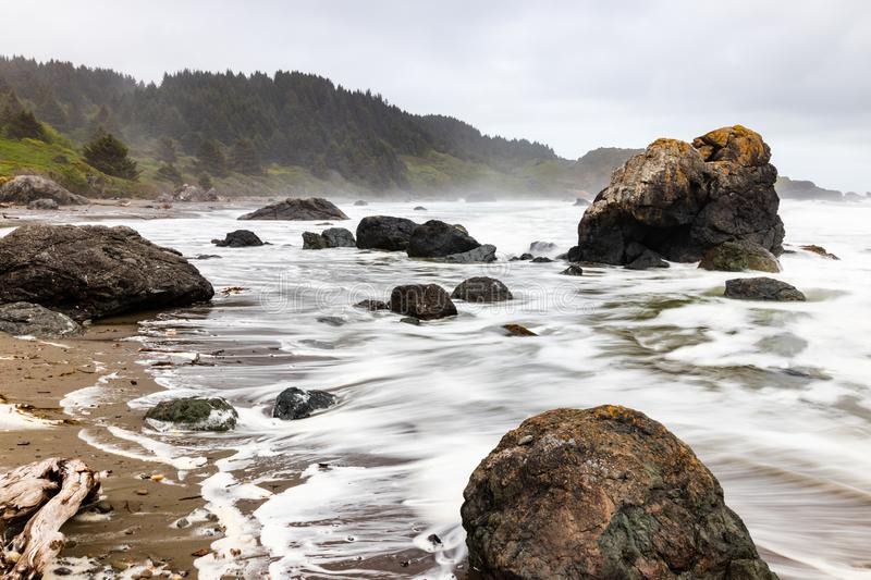 Samuel H. Boardman State Park, Oregon, West Coast, États-Unis d'Amérique, Travel USA, plein air, aventure, paysage, forêt tropica image stock